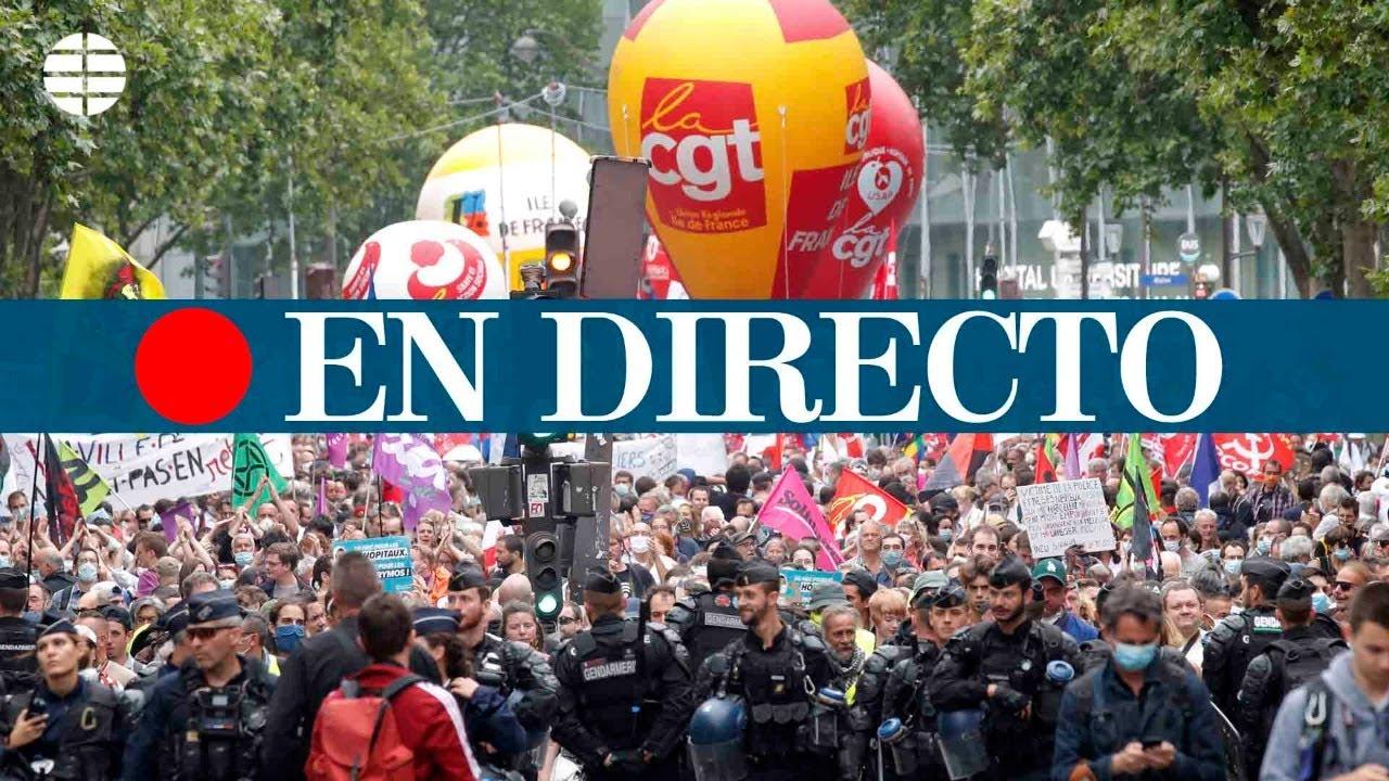 DIRECTO PARÍS | Los trabajadores de la salud se manifiestan en el día de la Bastilla