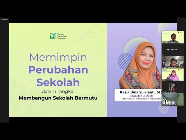 [Dokumentasi] Webinar Memimpin Perubahan Sekolah Bersama Dinas Pendidikan Provinsi Jawa Barat