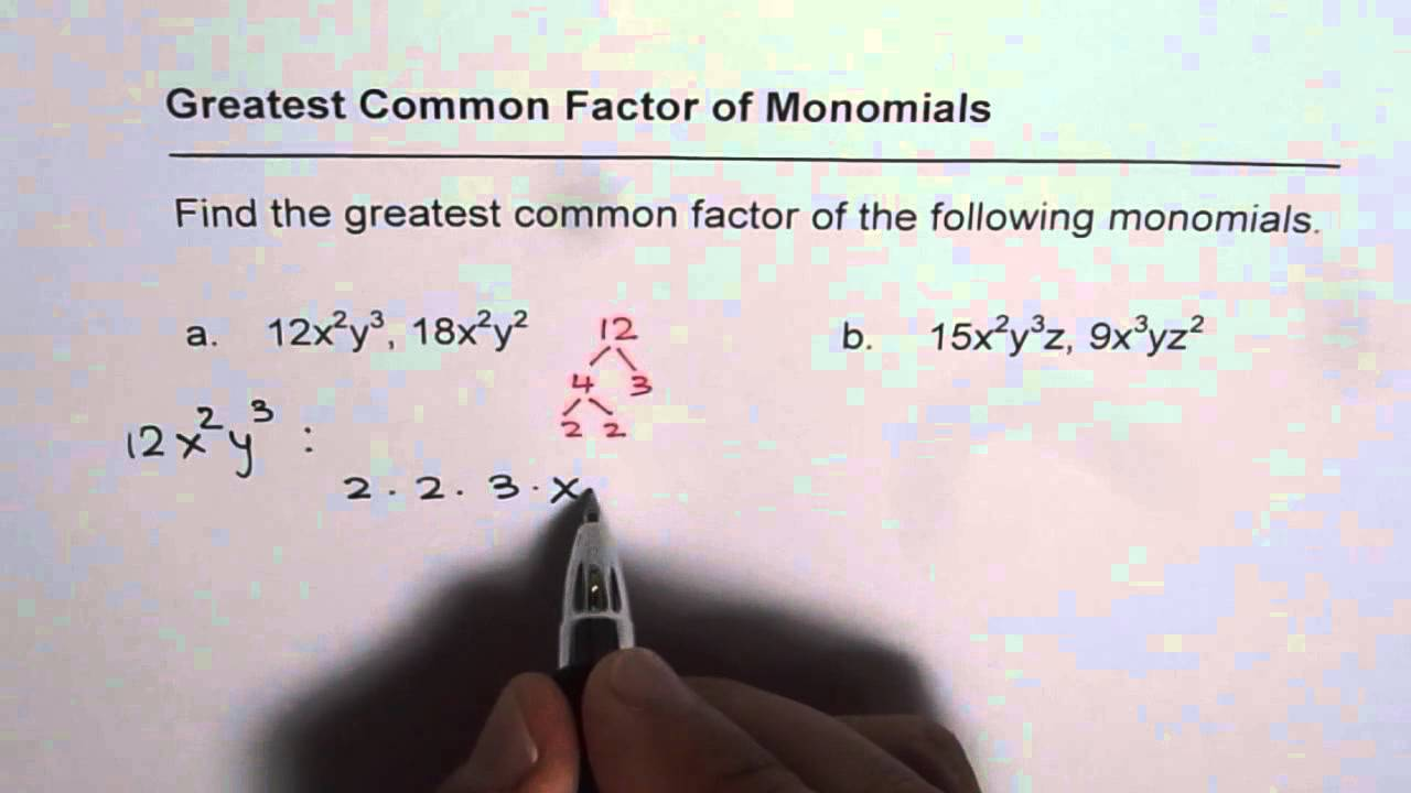how to find the lcm of monomials