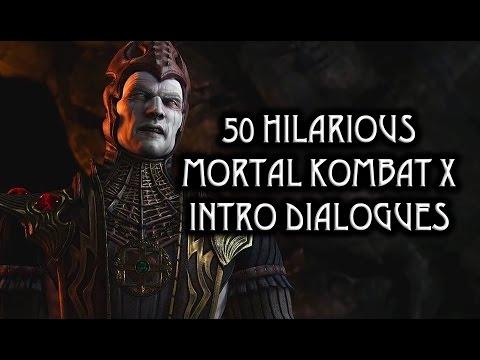 """50 Hilarious """"Mortal Kombat X"""" Intro Dialogues"""