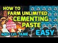 Best Trick To FARM UNLIMITED CEMENTING PASTE - Glitched Cave Snails Official
