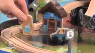 Kidkraft Dinosaur Wooden Train Set And Activity Play Table Compatible With Brio &thomas And Friends