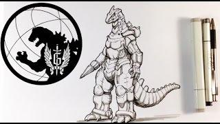 How to Draw Mecha Godzilla - Easy Drawings