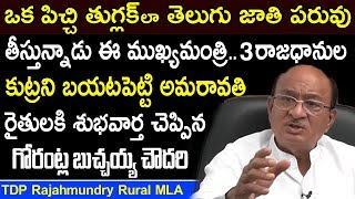 Gorantla Butchaiah Chowdary Comments On AP 3 Capitals Issue | TDP Latest Comments On Amaravati Issue