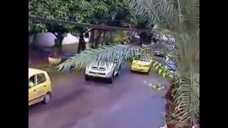 Imprudencia de un taxista en villavicencio.