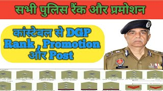 Indian Police सभी Ranks(Post , Promotion) कैसे पहचाने Officer की Rank क्या है ,सारी Details Hindi मे