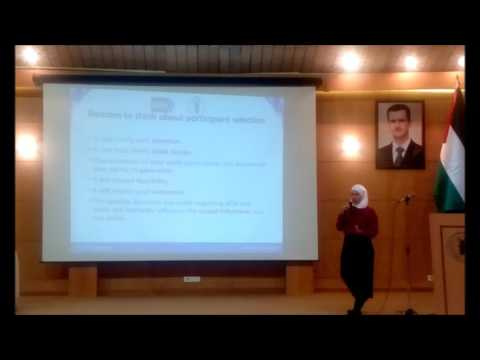 NIH - IPPCR Workshop - Damascus University || Recruitment and Randomization - Fatima Abbas