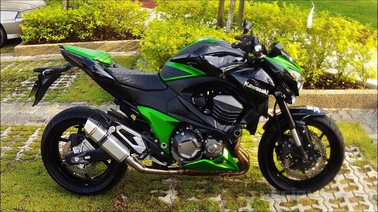 Kawasaki Z800 Custom Exhaust With Ride By