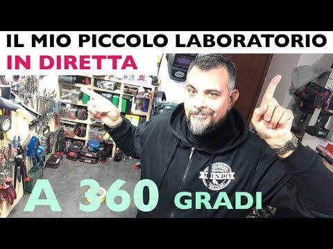 Video a 360 gradi del mio piccolo laboratorio... in diretta. Parkside. lidl e tanto altro. Shop tour