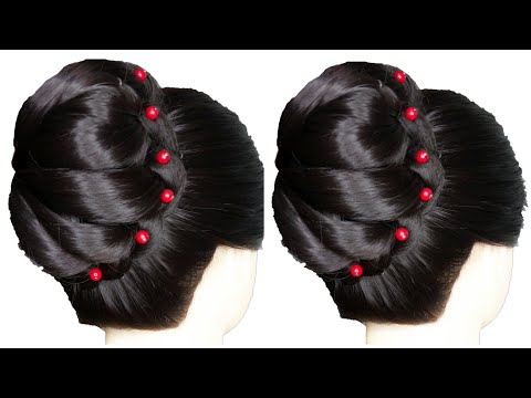 new-classic-layered-french-bun-hairstyle-for-ladies