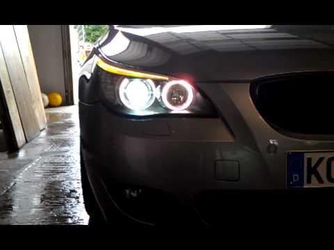 bmw e60 lci standlicht so hell wie tagfahrlicht youtube