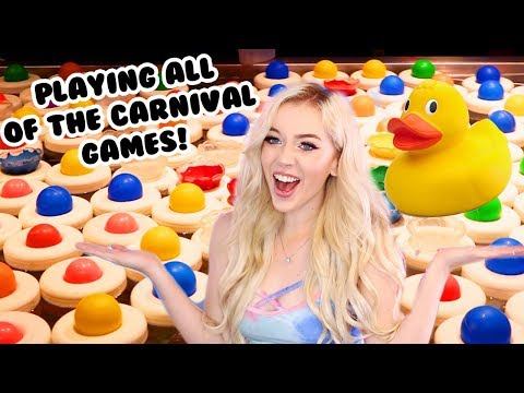 I PLAYED ALL OF THE CARNIVAL GAMES!
