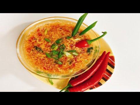 فكرة جديدة لعمل شوربة مختلفة على المائدة الرمضانية شوربة الطماطم الاسيوية #رمضان_2020
