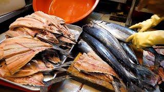 동대문에서 유명한 하루 500마리씩 팔리는 고등어 구이…
