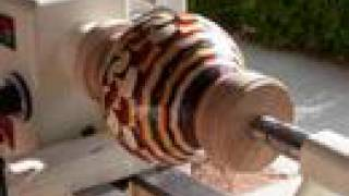 """Segmented Wood Turning Scuplture: """"A Coat of Many Colors"""""""