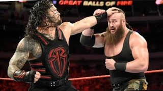 WWE Monday night raw match Roman reigns vs Braun strowman