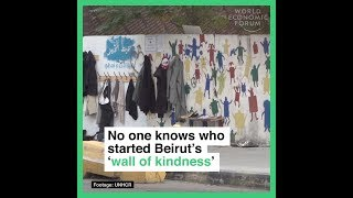 No one knows who starred Beirut's 'wall of kindness' thumbnail