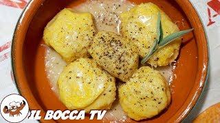 637 - Gnudi di zucca con burro salvia e formaggio..non ti basterà un assaggio (primo piatto genuino)