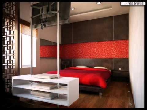 Rot Und Weiß Modern Schlafzimmer
