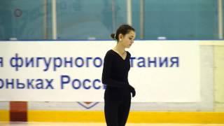 Евгения Медведева, КП на тренировке (IV этап КР 2014)