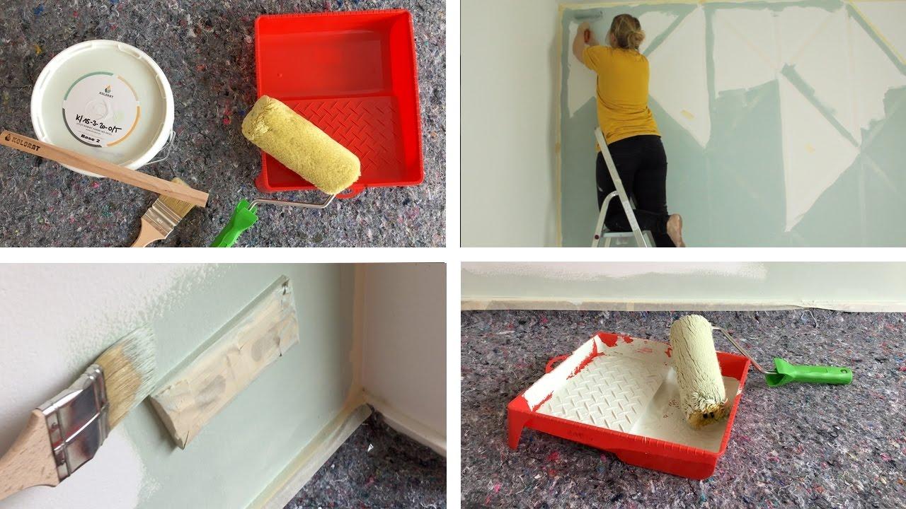 Wände streichen: Nähzimmer, Schlafzimmer, Küche und Wohnzimmer - YouTube