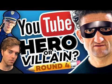 Drawing YOUTUBERS As HEROES & VILLAINS - ROUND 4!