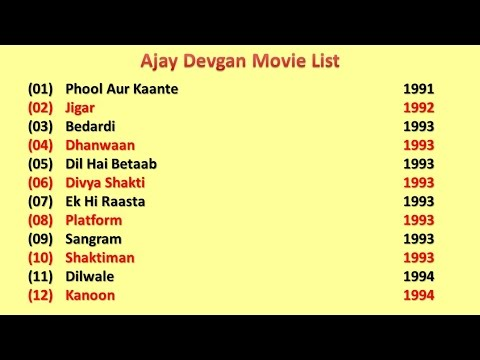 Ajay Devgan Movies List All Dailymotion
