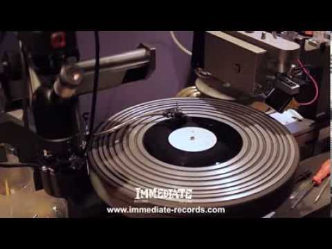 Small Faces - Kenney Jones cutting the Record Store Day vinyls (2012)