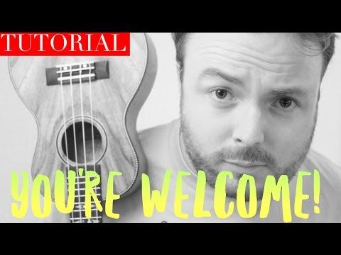 MOANA - YOU'RE WELCOME (DWAYNE JOHNSON DISNEY UKULELE TUTORIAL!)