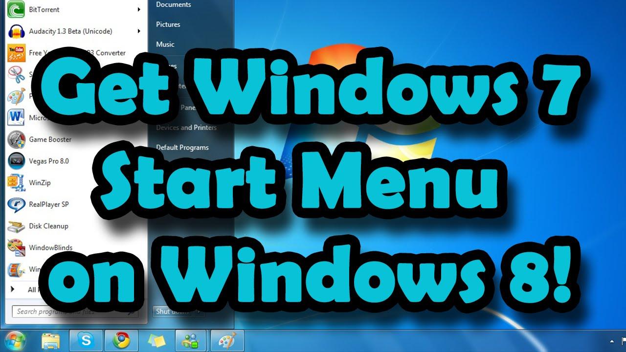 how to change the start menu on windows 8.1