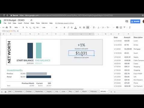 Google Spreadsheet 2019 Budget Template Tutorial + Free Download!