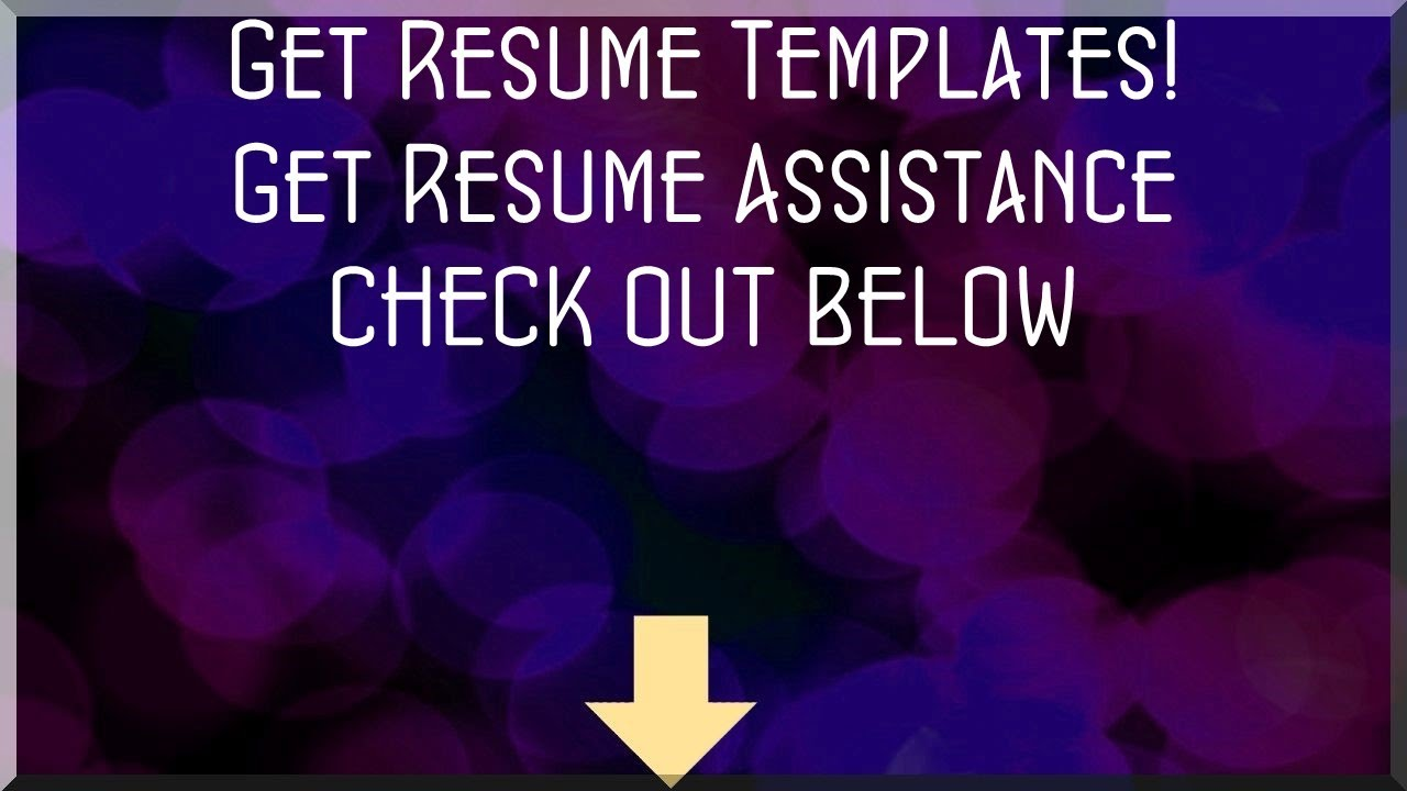 Get Resume Templates Free