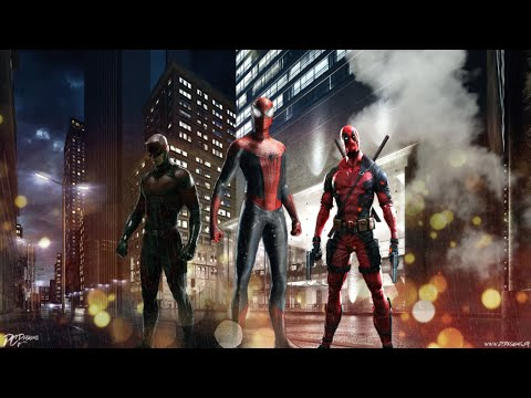 Team Red- Superhero by Simon Curtis [Deadpool,Daredevil and Spiderman]