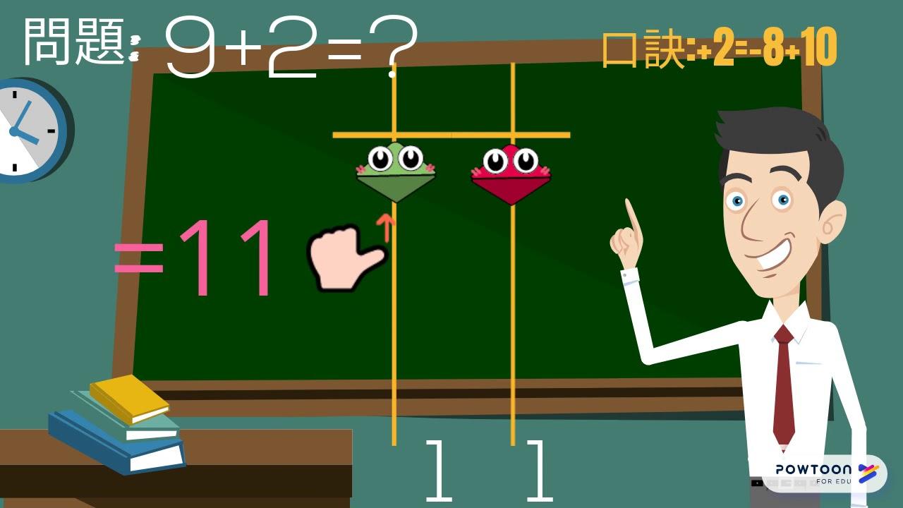 動畫!七天學會珠心算教學: +2=-8+10 - YouTube