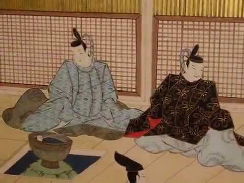 源氏物語図屏風 Byobu with scenes from the Tale of Genji