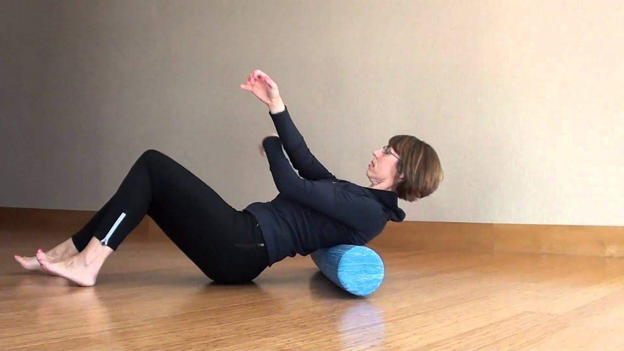 Foam roller for back pain - YouTube