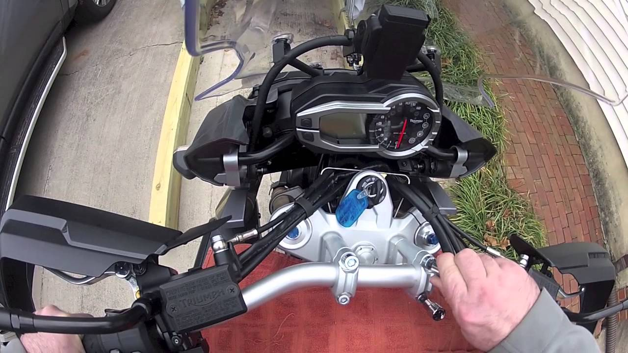 Triumph Tiger 800 >> Handlebar risers installation Triumph Tiger Explorer 1200 - YouTube