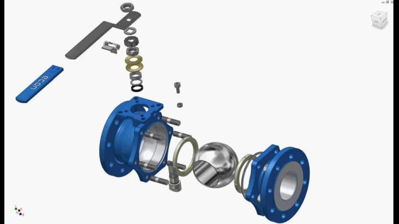 Exploded View Of Econ 174 7249 Ball Valve Youtube