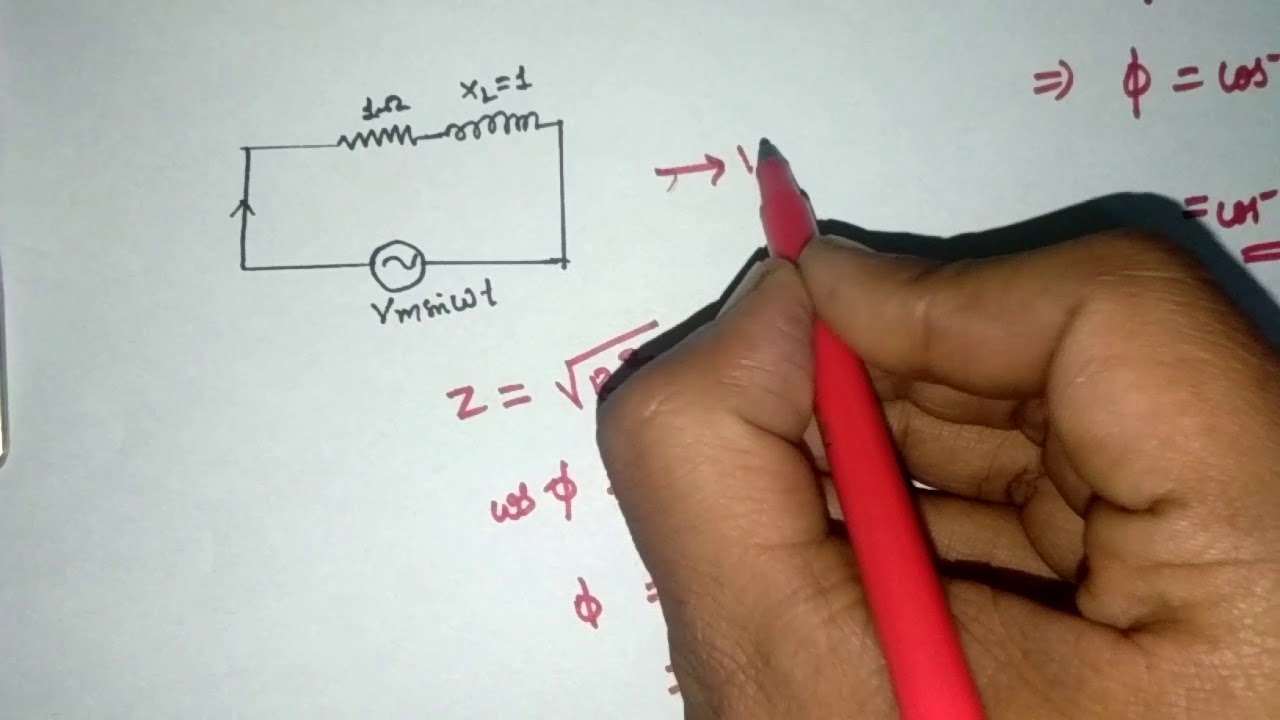 Series RLC Circuit Analysis-Phasor diagram - YouTube