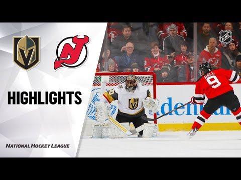 NHL Highlights | Golden Knights @ Devils 12/3/19