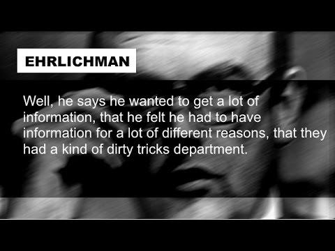 Richard Nixon and John Ehrlichman Discuss Watergate July 19 1972