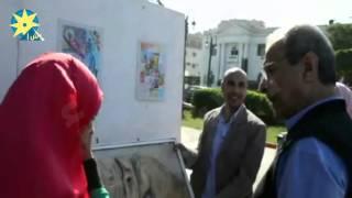 بالفيديو : محافظ المنيا يفتتح معرض موسيقا بصرية على كورنيش النيل