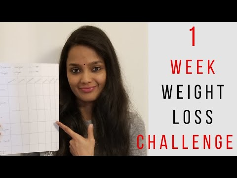 Lose weight in 7 days at home | 1 week eat clean and lose weight challenge | Weight loss in tamil