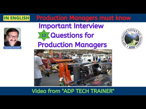 Production Manager Interview Questions | In English | ADP Tech Trainer #production