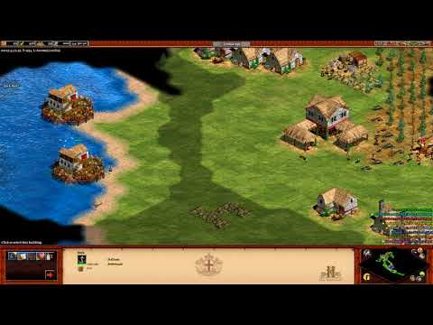 Age of Empires 2 HD 4v4 nomad-Italian navy rush