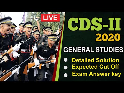 CDS 2 2020 G.S. Video Solution | 8th November | Cut-offs