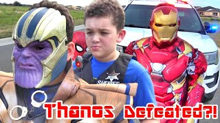 Impossible THANOS ARREST by COPS and SUPERHEROES! BEST CAR CHASE DEFEAT...