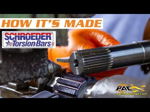 Schroeder Series Torsion Bars And Sway Bars - How It's Made