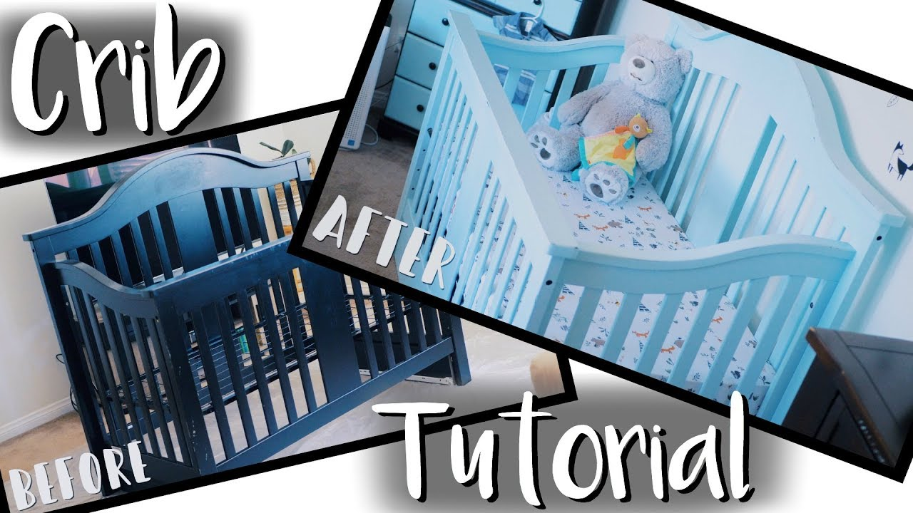 Diy Baby Crib Makeover On A Budget How To Paint A Crib Safely
