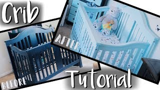 DIY Baby Crib Makeover On a Budget! | (How To Paint a Crib Safely)